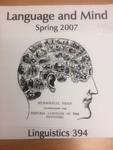 Flier for Linguistics 394 by Lyn Frazier