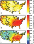 Species Potential Range Predictions (Out of the Weeds? Reduced Plant Invasion Risk with Climate Change in the Continental United States) by Bethany Bradley and Jenica Allen