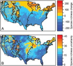 Distribution Locations of Invasive Species (Out of the Weeds? Reduced Plant Invasion Risk with Climate Change in the Continental United States) by Bethany Bradley and Jenica Allen